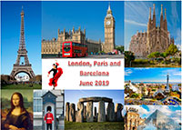 London, Paris and Barcelona, June 2019